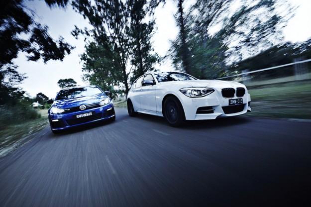 BMW M135i v Evo v WRX STI v Golf R  The M3cutters  UK BMW M3
