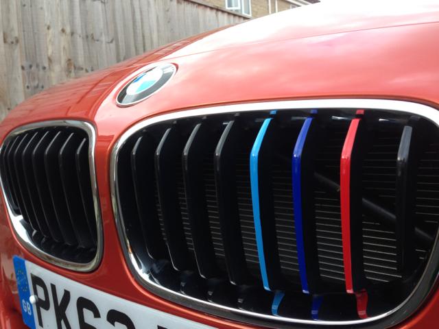 M Tri Coloured Front Grille Stripes