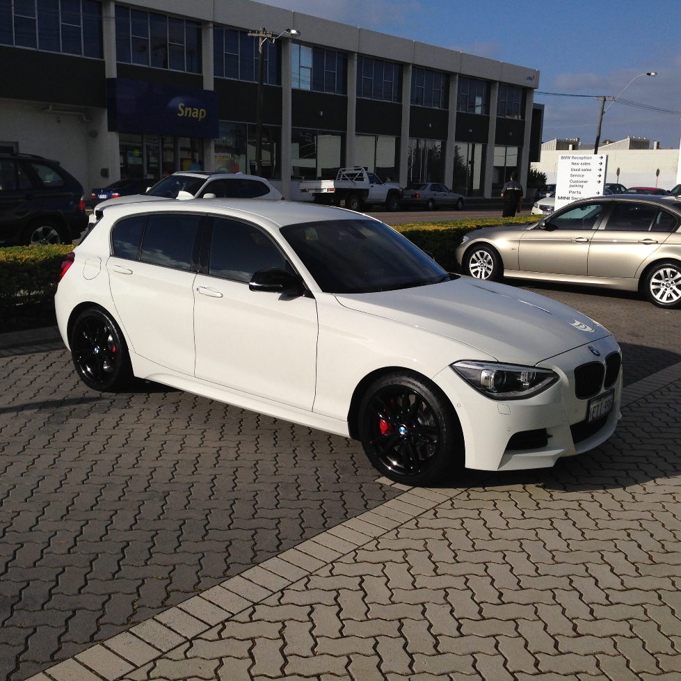 Bmw 130i: M135i With Painted Black 436M Wheels And BMWP Brakes